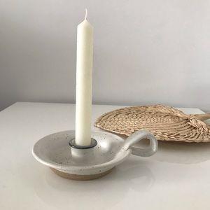 2/30$ Signed Candle Holder Ceramic Pottery
